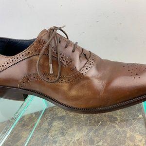 Johnston Murphy Italy Brown Wholecut Dress Shoes 8